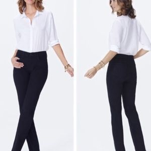 Nydj Marilyn straight black lift tuck jeans new